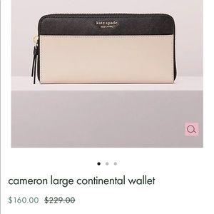 BNWOT Kate Spade Cameron Large Wallet